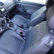 volkswagen golf black leather cusotm seat covers chehol.org