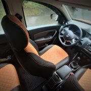 duster custom made leather seat covers