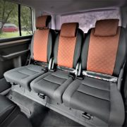 vw touran custom seat covers brown leather