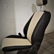 ford focus custom seat covers beige leather chehol.org