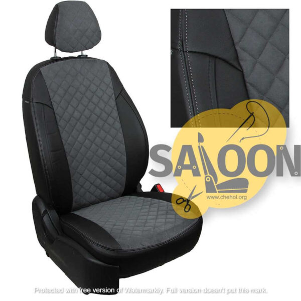 grey black seat covers